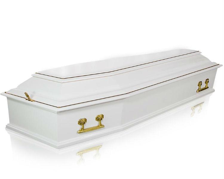 Гроб Стандарт-6 белый