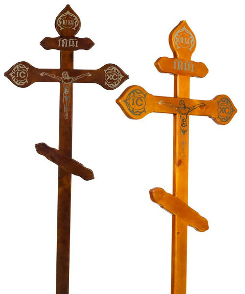 Крест сосна Фигурный с распятием