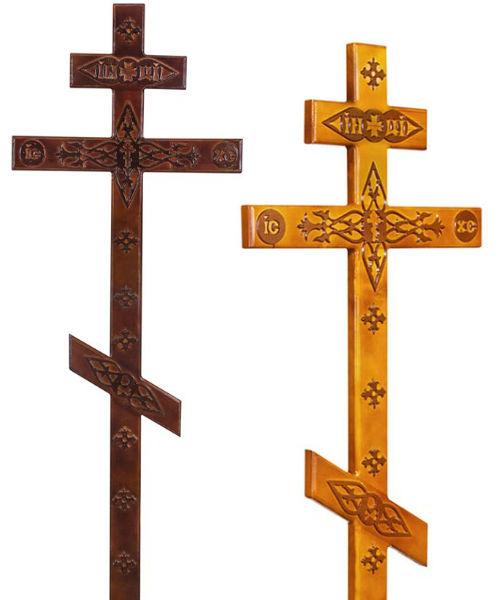Крест сосна Прямой с декором