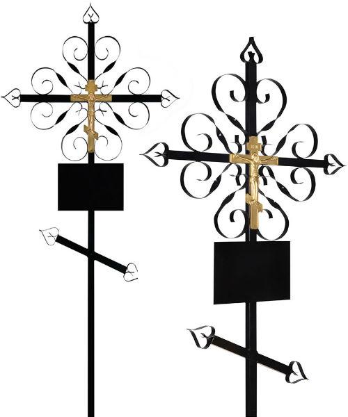 Крест металл №2 Завиток