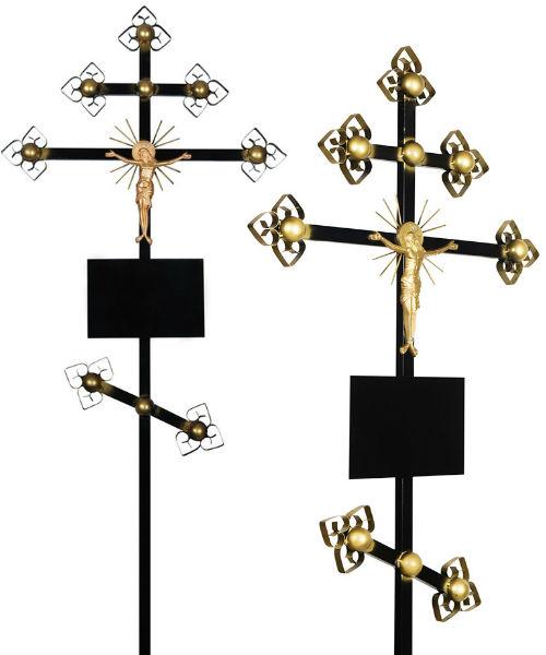 Крест металл №4 Золото