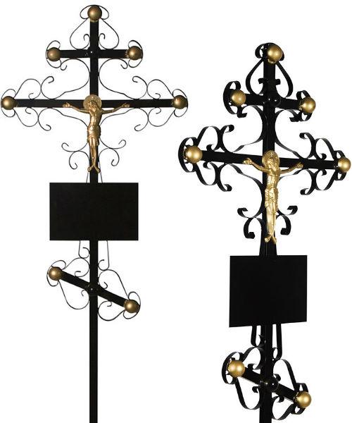 Крест металл №6 Вензеля