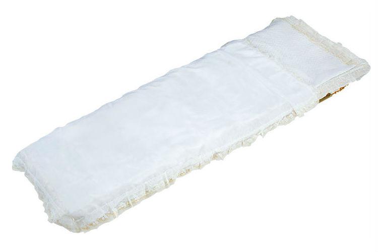 Покрывало атлас белое