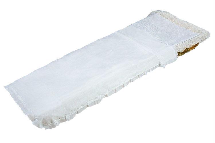 Покрывало шелк белое