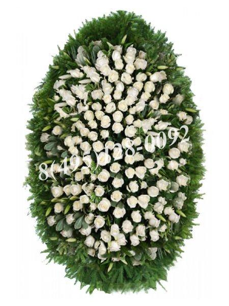 Венок из живых цветов №5