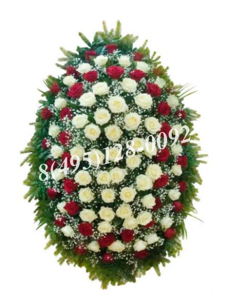 Венок из живых цветов №8